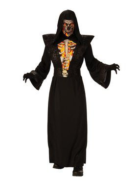 Fiery Skeleton Costume for Adults