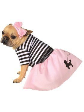 Pink Fifties Girl Costume for Pet