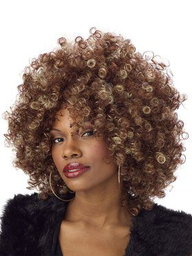 Fine Foxy Brown & Blonde Fro Womens Wig