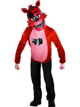 Five Nights At Freddys Deluxe Foxy Kid's Classic Costume Set