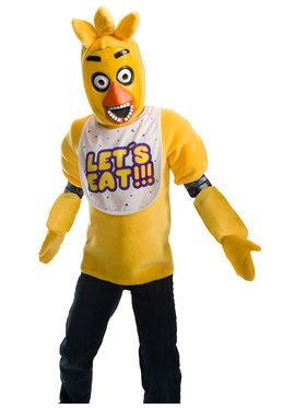 Five Nights At Freddys Chica Costume Deluxe For Children