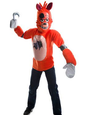 Five Nights At Freddys Foxy Costume Deluxe For Children