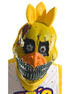 Adult Chica Nightmare 3/4 PVC Mask - Five Nights at Freddy's