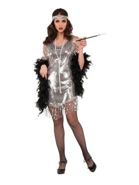 Silver Flapper Women's Costume