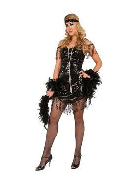 Black Flapper Women's Costume