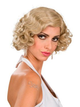 Flapper Wig (Blonde) For Adults