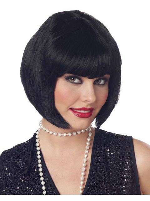 California Costumes Flapper Wig Black Adult Costume