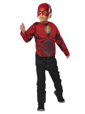 Child The Flash Muscle Shirt Costume