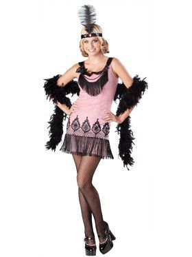 Flirty Flapper Costume for Teens