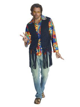 Flower Power Hippie Mens Costume