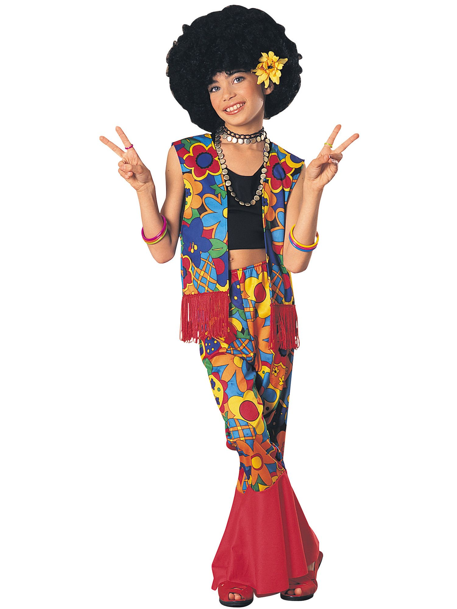 Rubieu0027s Girlu0027s Flower Power Costume  sc 1 st  Nextag & Girl flower power hippie costume | Compare Prices at Nextag