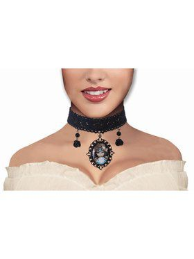 Fortune Teller Crystal Ball Cameo Accessory Necklace