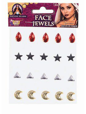 Fortune Teller Accessory Face Jewels 20 Pieces