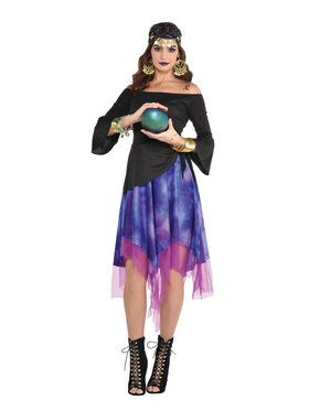 Fortune Teller High-Low Base Dress Costume