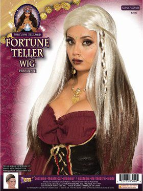 Fortune Teller - Wig - White & Brown