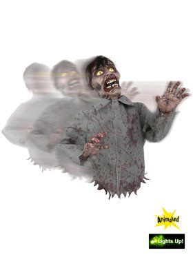 Freaky Bump and Go Animated Zombie Prop