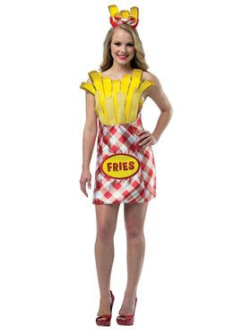 French Fries Dress Costume For Women