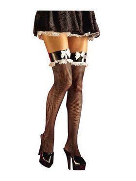French Maid Fishnets Adult