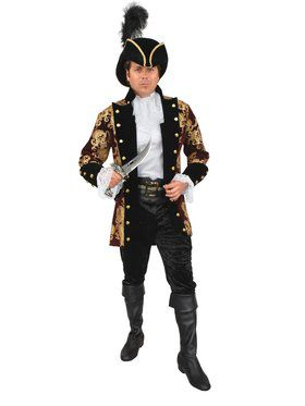 Men's French Pirate Captain Costume