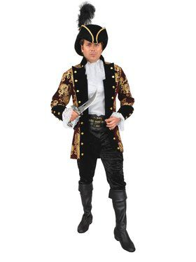 Plus Men's French Pirate Captain Jacket