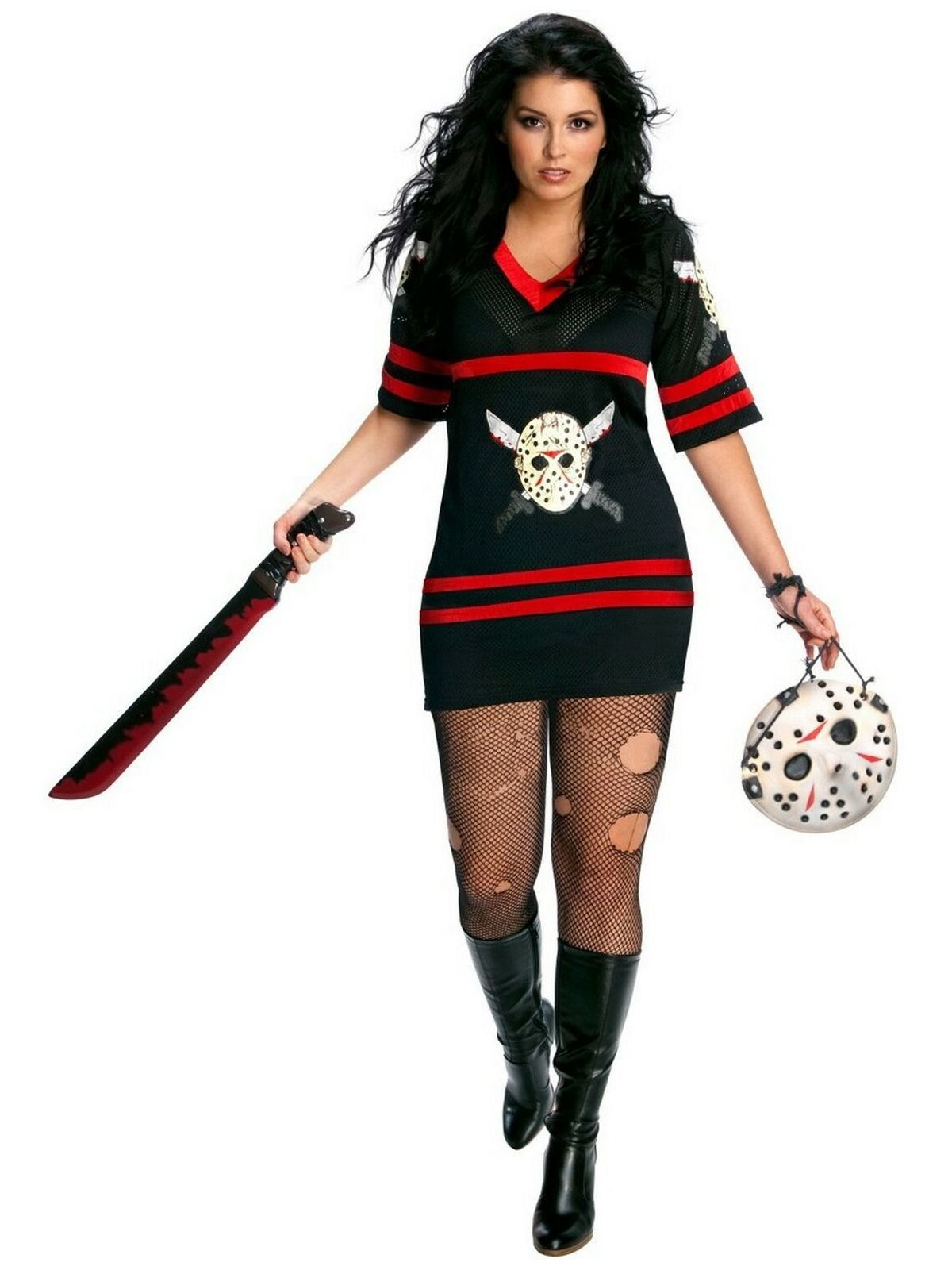 Friday the 13th Miss Jason Voorhees Plus Adult Costume  sc 1 st  Wholesale Halloween Costumes & Friday the 13th Miss Jason Voorhees Plus Adult Costume - Womens ...