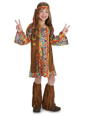 Fringe 60's Hippie Child Costume for Halloween