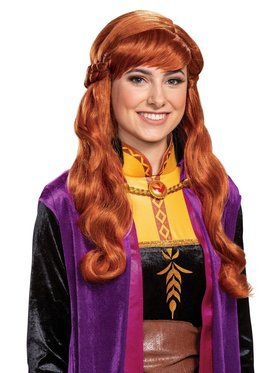 Frozen 2 Princess Anna Wig for Adults