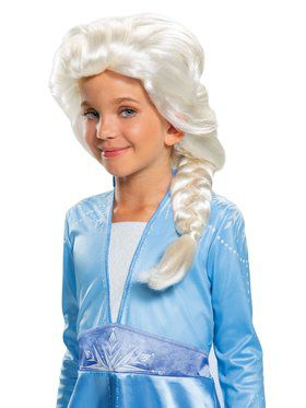 Frozen 2 Princess Elsa Wig for Kids