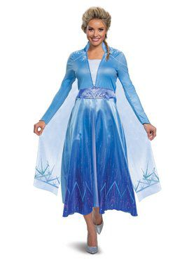 Frozen 2 Princess Elsa Deluxe Costume for Adults