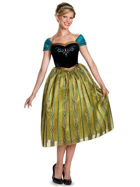 Adult Deluxe Anna Coronation Costume - Disney Frozen