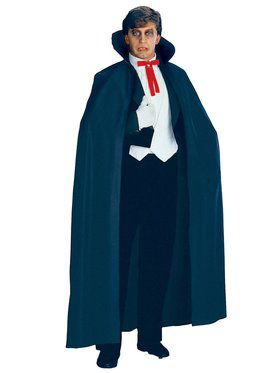 Full Length Black Fabric Cape Adult Costume