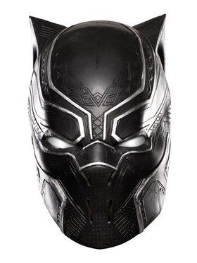 Full Vinyl Black Panther Mask for Kids