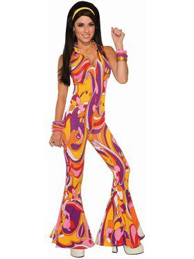 Funky Jumpsuit Lady Adult Costume