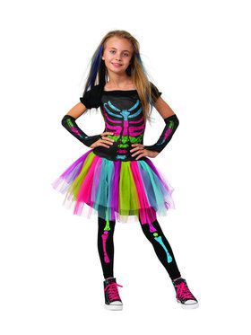 Funky Punky Skeleton Costume for Girls
