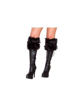 Costume Fur Boots Cuffs