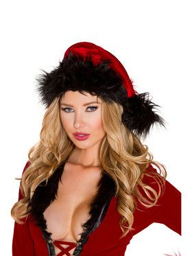 Fur Trimmed Hat Costume Accessory