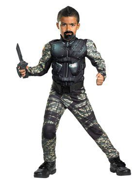 G.I. Joe Movie Classic Muscle Roadblock Child Costume