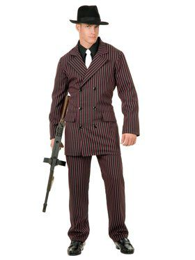 Men's Gangster Six Button Double Breasted Suit Costume
