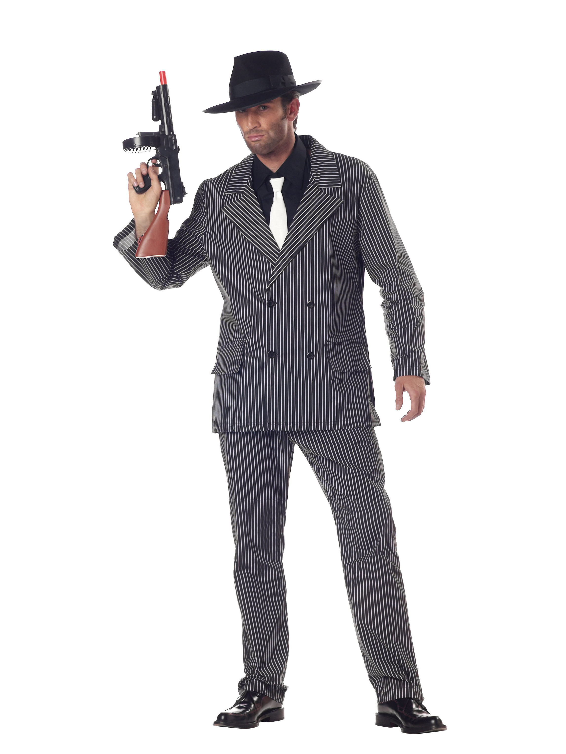 California Costumes Gangster Striped Suit Mens Costume