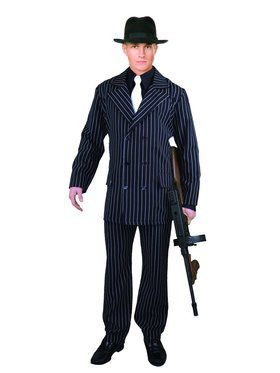 Men's Six Button Pinstripe Gangster Costume