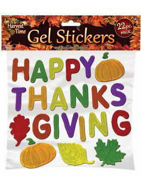 Thanksgiving Gel Stickers