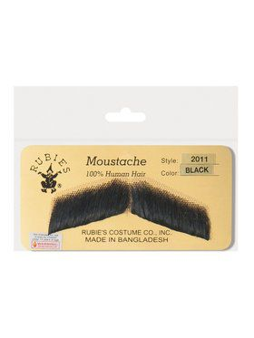 Gentleman's Black Moustache Accessory