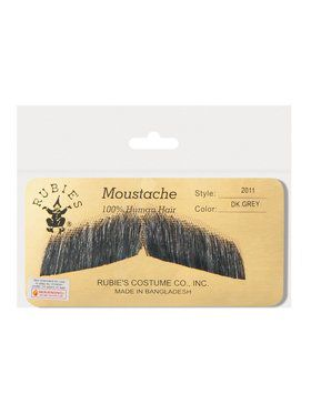 Gentleman's Dark Grey Moustache Accessory