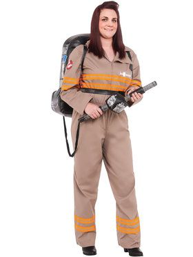 Adult Plus Deluxe Womens Ghostbuster Costume - Ghostbusters Movie