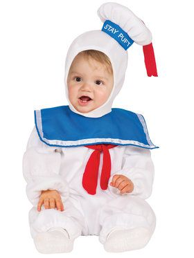 Ghostbusters Stay Puft EZ - On Romper Costume Toddler