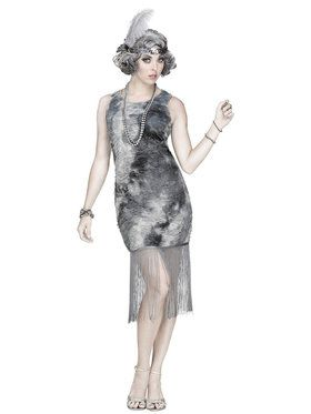 Adult Ghostly Flapper Costume For Adults