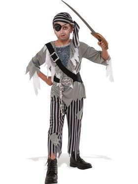 Ghostly Pirate Costume For Children