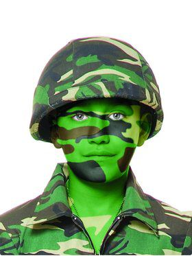 Adult's GI Helmet with Army Camo Cover