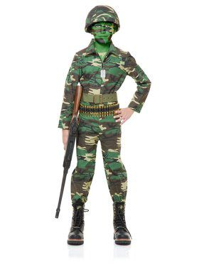 Kid's GI Army Jumpsuit Costume