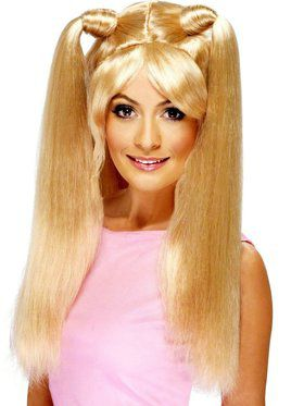 Girl Power Baby Spice Pony Tails Blonde Wig Women's